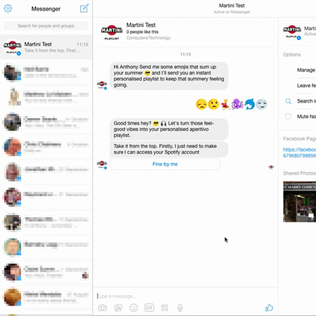 Martini Facebook Chatbot
