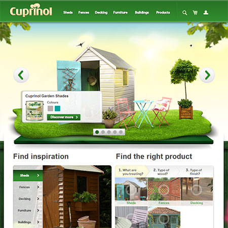Cuprinol website